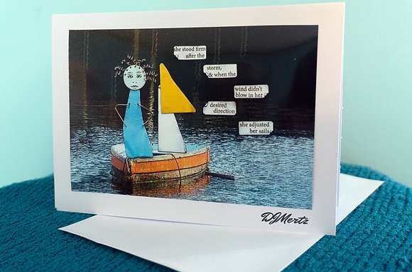 """Adjust the sails"" - greeting card"