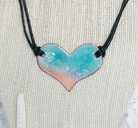 Beaches -  Aruba blue w/cord puff heart