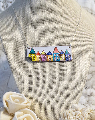 Hand-painted jewelry - Row Houses/Large