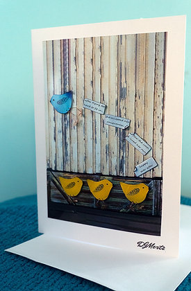 """Flew the coop"" - greeting card"