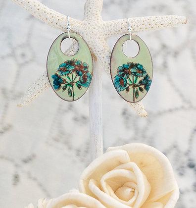 """Earrings """"Wildflower on lichen"""""""