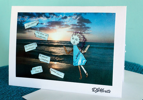 """At the beach"" - greeting card"