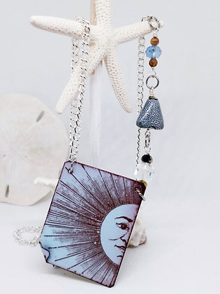 Partly Sunny w/ Blue Skies Necklace
