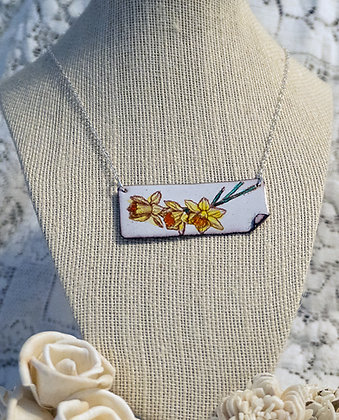 Hand-painted jewelry - Daffodil Large