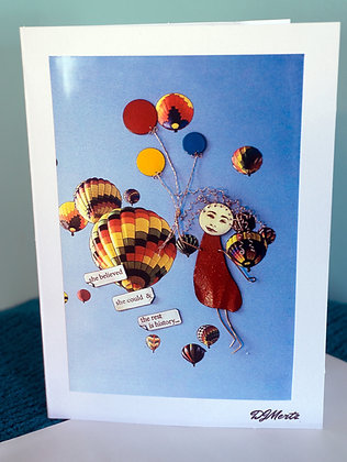 """""""She believed"""" - Greeting Card"""