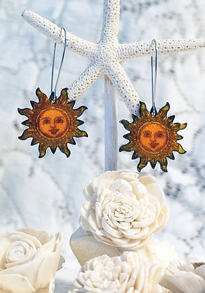 Sunshine enameled earrings