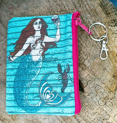 Mermaid with Wine Mini Clutch