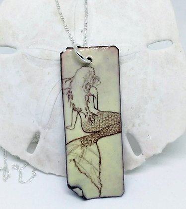 Pale Yellow Mermaid Pendant