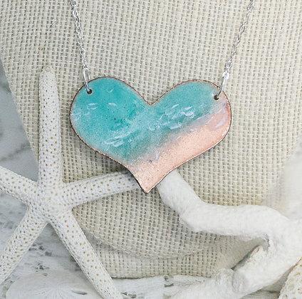 Beaches -  Aruba blue/green puff heart