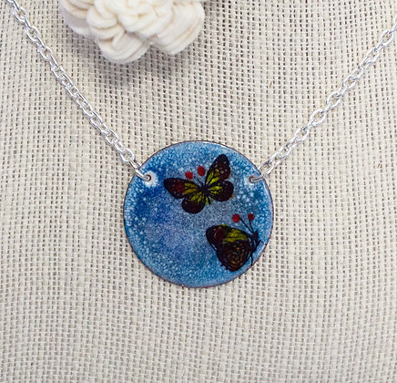Butterfly twins on Blue Necklace