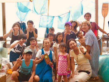 親子の笑顔が広がった藍の生葉染講座 in WaiiWaii