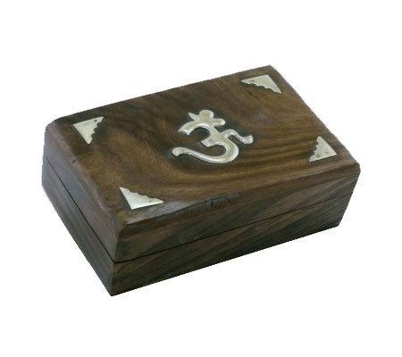 Boîte de Tarot (ou autre) en bois massif