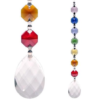 Suspension Cristal 7 chakras - Bien-Être
