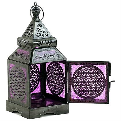 Lanterne Fleur de vie Argent