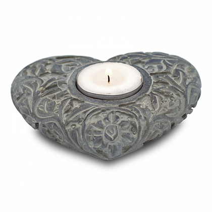 Bougeoir/brûle encens en pierre naturelle