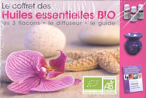 Le coffret des Huiles Essentielles Bio - 3 flacons, 1 diffuseur, 1 guide
