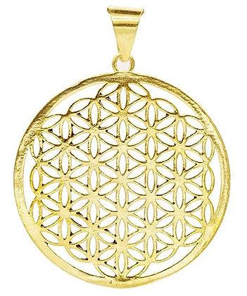Médaille Fleur de Vie doré