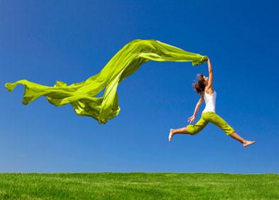 Une femme en pleine vitalité, énergie