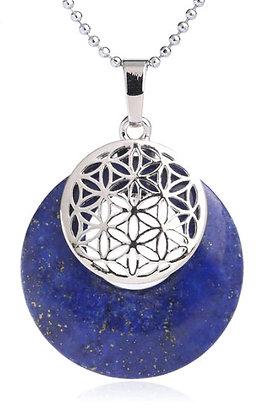 Le Pendentif Fleur de Vie - Lapis Lazuli