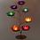 Bougeoirs 7 lotus avec bougies