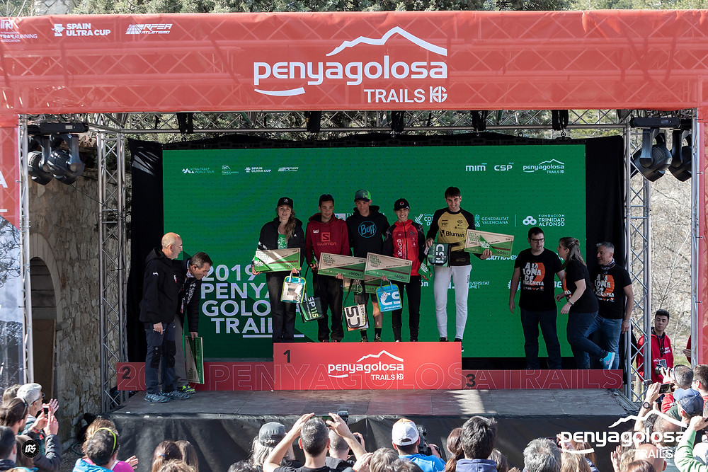 Podiums i cheques