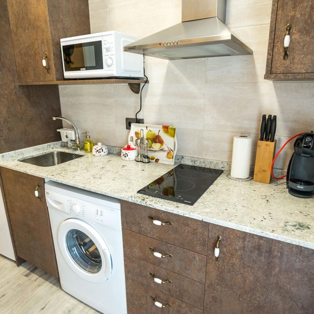 Apartamentos las suertes, el huerto cocina