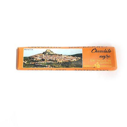 Chocolate Negro con Naranja (52% Cacao)