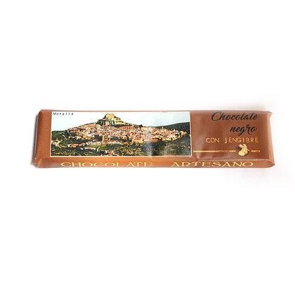 Chocolate Negro con Jengibre (52% Cacao)