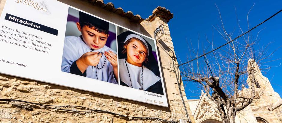 """Producción de """"Ánima Sexennal"""": así es la exposición de fotografías en gran formato de Morella"""