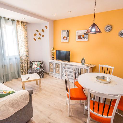 Apartamentos las suertes, el huerto salón