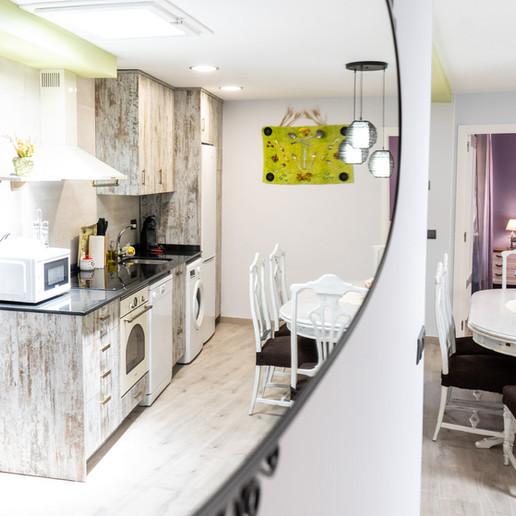 Apartamentos las suertes, la dehesa cocina