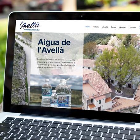 Agua de l'Avellà estrena web con tienda online