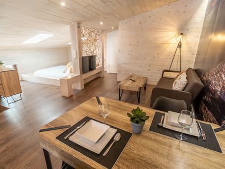 Amueblamos dos apartamentos turísticos para Turismo Rural Morella