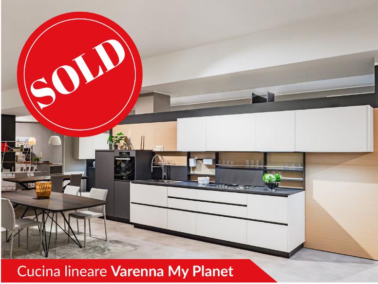Cucina lineare di Varenna modello My Planet