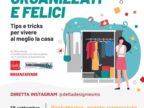 In diretta Instagram il 28 settembre il terzo appuntamento di Organizzati e Felici