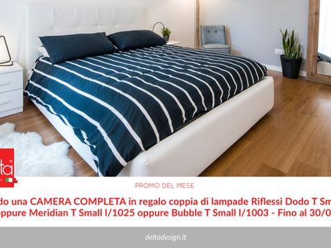 Illuminare con stile la camera da letto: con Delta design le lampade sono in omaggio