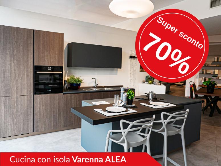 Cucina con isola di Varenna modello Alea