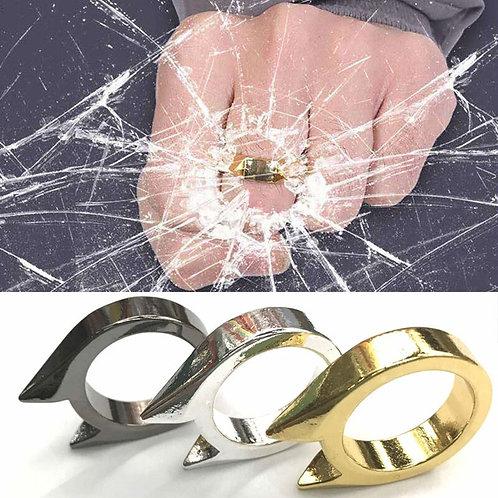 3Pcs Self-Defense Ring Women Men Stainless Steel Finger Defense Rings