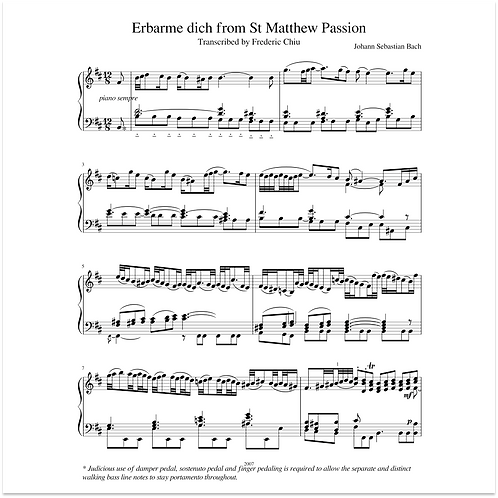Erbarme dich from St Matthew Passion