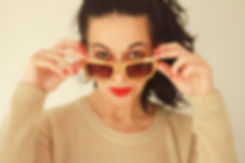 Woman Iført solbriller