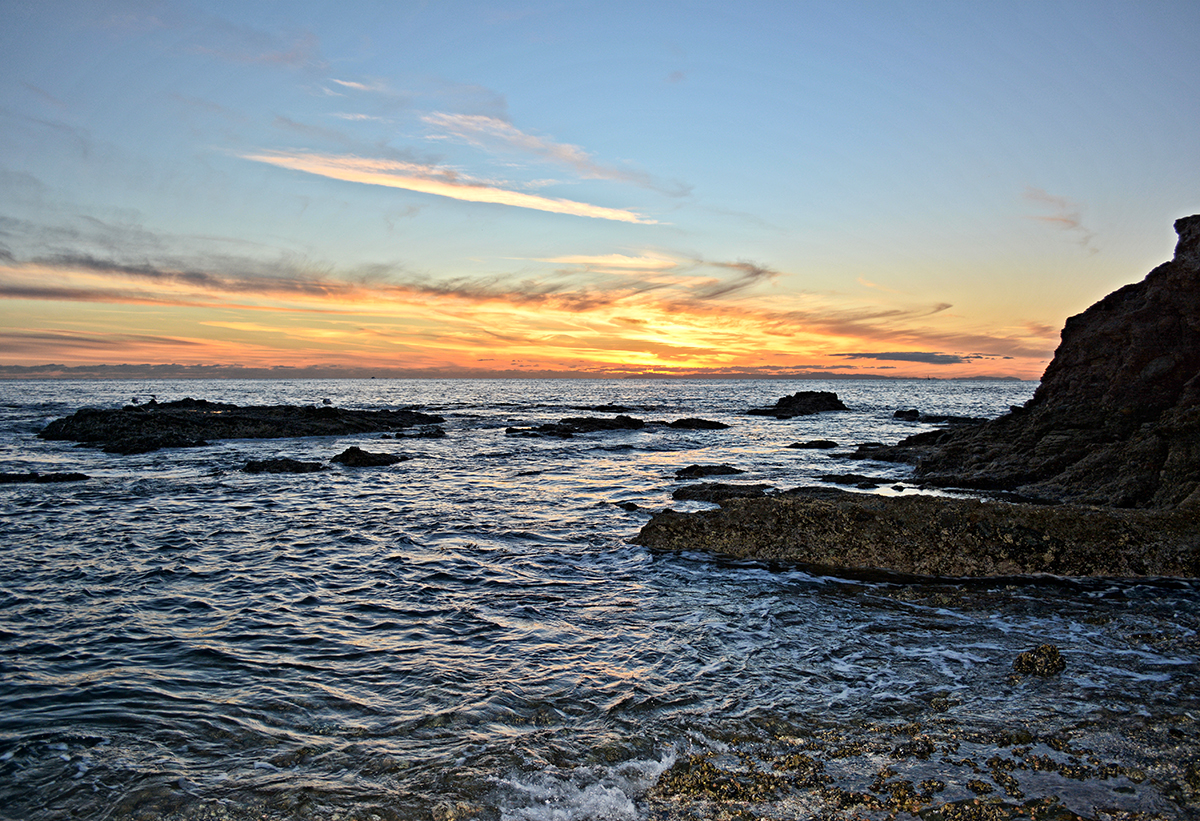 SHAW'S  COVE SUNSET -LAGUNA BEACH