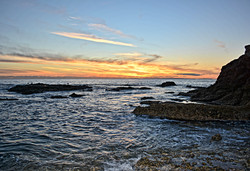 SHAW'S  COVE SUNSET -LAGUNA BEACH