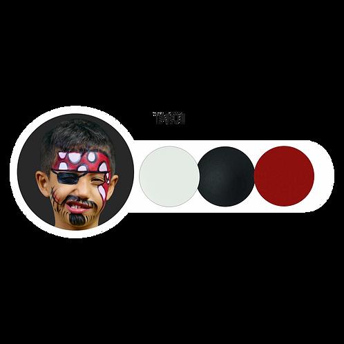 Trio Blanco-Negro-Rojo
