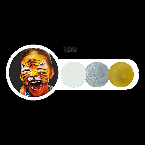 Trio Blanco-Plateado-Dorado