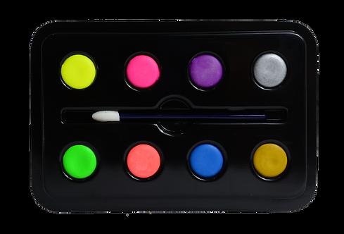 Paleta Maquillaje Artístico x8 Tonos 32 GR Neón Pequeña