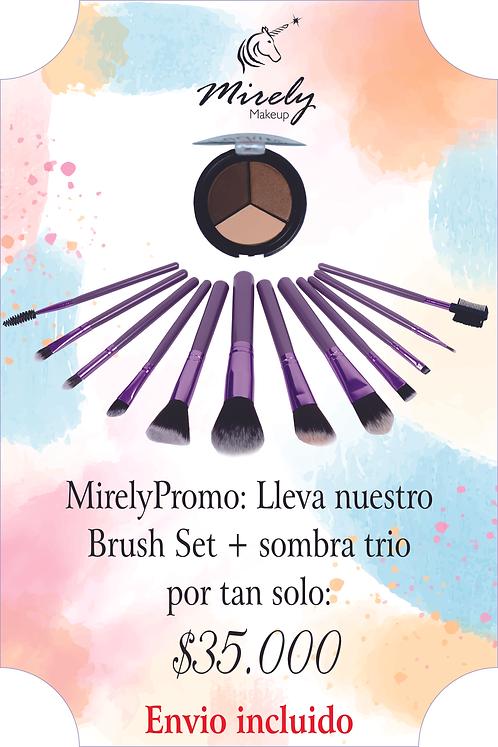 MirelyPromo! - Brush Set + Sombra Trio