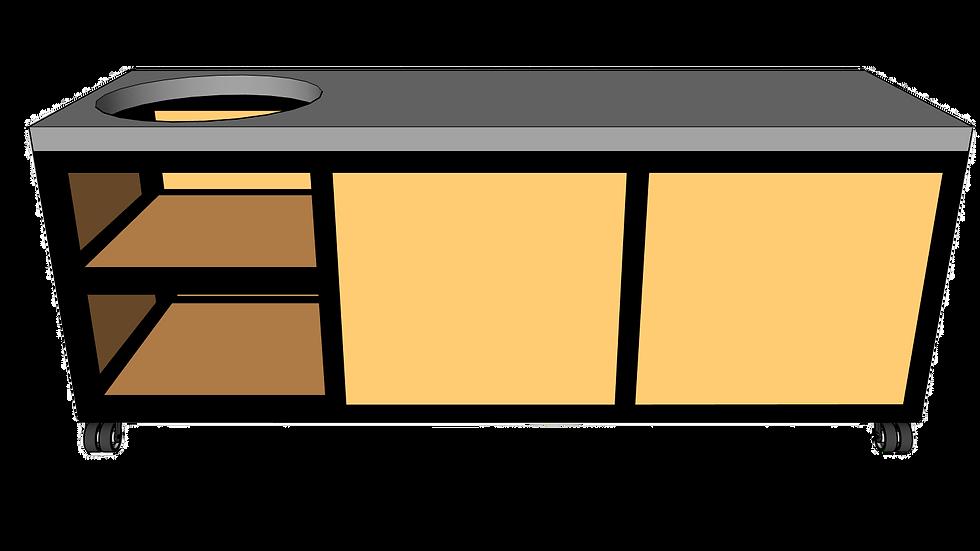 Buitenkeuken voor kamado links 220cm