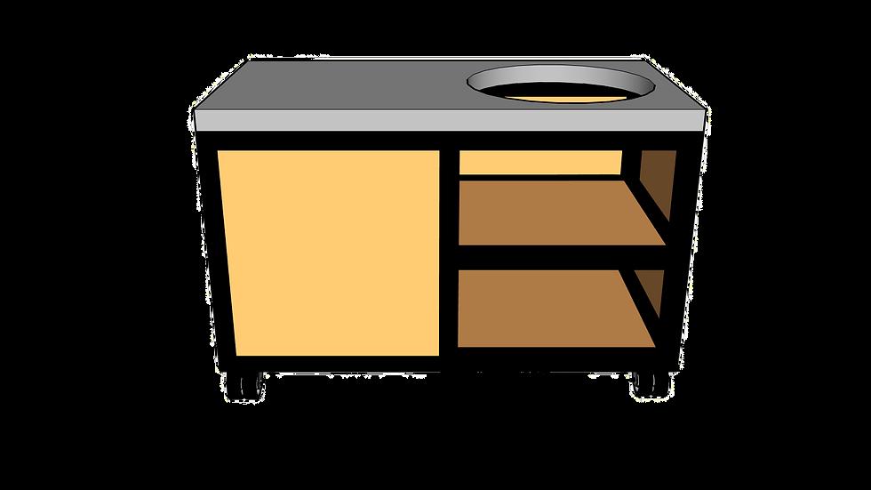 Buitenkeuken voor kamado rechts 135cm