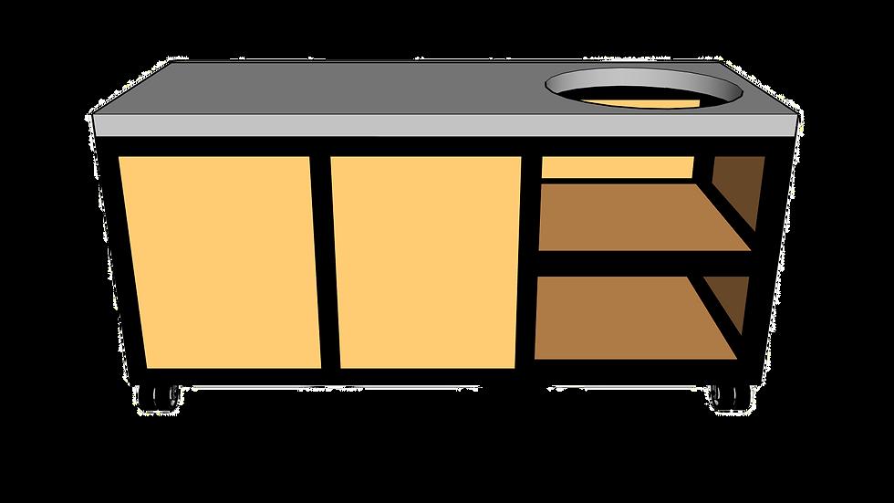 Buitenkeuken voor kamado rechts 180cm