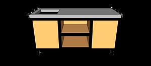 Buitenkeuken met spoelbak 180 cm midden
